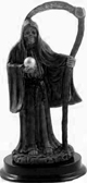 Santisima-Muerte-Five-Inch-Black-Statue-With-Globe-and-Scythe-at-Lucky-Mojo-Curio-Company