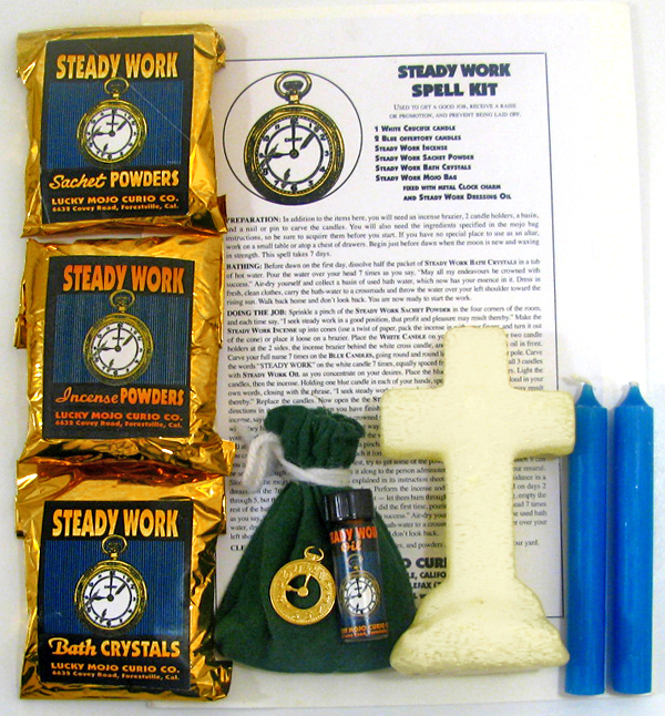 Lucky-Mojo-Curio-Co.-Steady-Work-Magic-Ritual-Hoodoo-Rootwork-Conjure-Spell-Kit