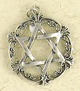 Sterling-Silver-Interlaced-Floral-Star-Of-David-Amulet-at-Lucky-Mojo-Curio-Company