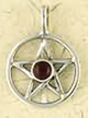 Sterling-Silver-Small-Pentacle-With-Garnet-Amulet-at-Lucky-Mojo-Curio-Company