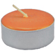 Tea-Light-Candle-Orange-Unscented-Product-Detail-Button-at-the-Lucky-Mojo-Curio-Company-in-Forestville-California