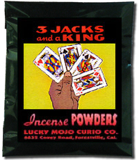 Lucky Mojo Curio Co.: Three Jacks and a King Incense Powder