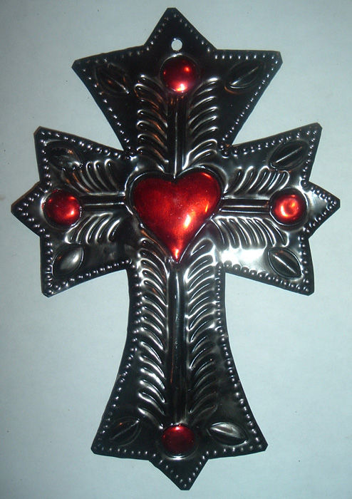 Large-Stamped-Tin-Cross-and-Red-Heart-Milagro-at-the-Lucky-Mojo-Curio-Company