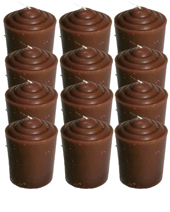 Votive-Light-Candle-Dozen-Brown-at-the-Lucky-Mojo-Curio-Company-in-Forestville-California