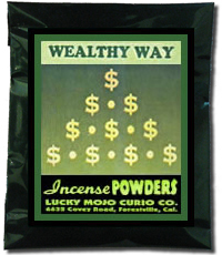 Lucky Mojo Curio Co.: Wealthy Way Incense Powder