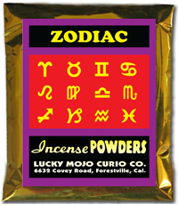 Lucky Mojo Curio Co.: Zodiac Incense Powders