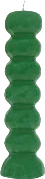 Lucky Mojo Green Seven Knob Figural Candle