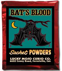 Lucky Mojo Curio Co.: Bat's Blood Sachet Powder