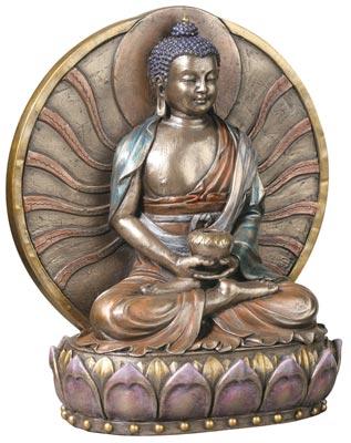Six-inch-Buddha-Amitaba-Bronze-Tone-Resin-at-Lucky-Mojo-Curio-Company