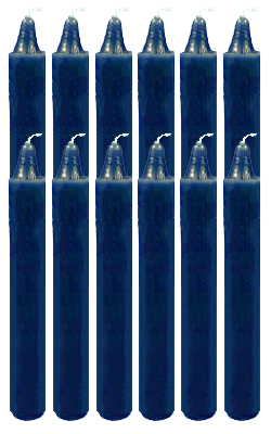 6-Inch-Black-Cat-Brand-Offertory-Candles-Dozen-Blue-at-the-Lucky-Mojo-Curio-Company-in-Forestville-California