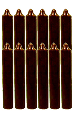 9-Inch-Black-Cat-Brand-Jumbo-Candles-Dozen-Brown-at-the-Lucky-Mojo-Curio-Company-in-Forestville-California