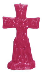 Crucifix-Cross-and-Keys-Figural-Candle-Pink-at-the-Lucky-Mojo-Curio-Company-in-Forestville-California