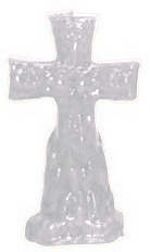 Crucifix-Cross-and-Keys-Figural-Candle-White-at-the-Lucky-Mojo-Curio-Company-in-Forestville-California