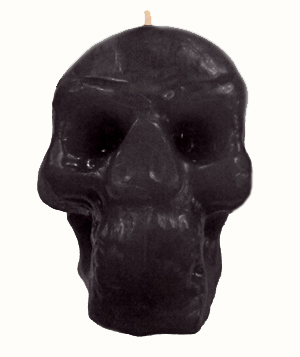 Skull-Candle-Black-at-the-Lucky-Mojo-Curio-Company-in-Forestville-California