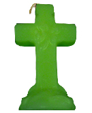 Cross-4-Leaf-Clover-Figural-Candle-Green-at-the-Lucky-Mojo-Curio-Company-in-Forestville-California