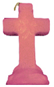 Cross-4-Leaf-Clover-Candle-Pink-Product-Detail-Button-at-the-Lucky-Mojo-Curio-Company-in-Forestville-California