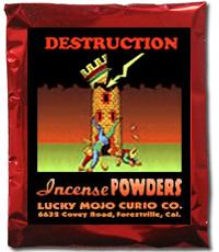 Lucky Mojo Curio Co.: Destruction Incense Powder