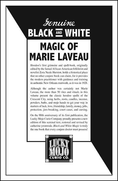 Order-Genuine-Black-and-White-Magic-of-Marie-Laveau-restored-revised-and-edited-by-catherine-yronwode-published-by-Lucky-Mojo-Curio-Company-in-Forestville-California