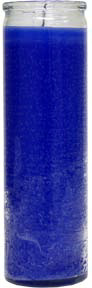 Plain-Blue-No-Label-Glass-Vigil-Candle-Fixed-at-the-Lucky-Mojo-Curio-Company-in-Forestville-California