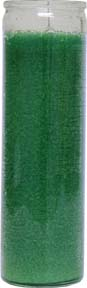 Plain-Green-No-Label-Glass-Vigil-Candle-Fixed-at-the-Lucky-Mojo-Curio-Company-in-Forestville-California