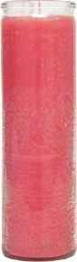Plain-Pink-No-Label-Glass-Vigil-Candle-Fixed-at-the-Lucky-Mojo-Curio-Company-in-Forestville-California