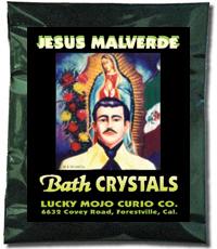 Lucky Mojo Curio Co.: Jesus Malverde Bath Crystals