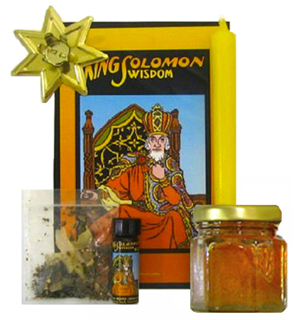 Lucky-Mojo-Curio-Co.-King-Solomon-Wisdom-Magic-Ritual-Hoodoo-Rootwork-Conjure-Honey-Jar-Spell-Kit