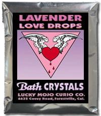 Lucky Mojo Curio Co.: Lavender Love Drops Bath Crystals