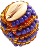 Macuto-Ochosi-Cowrie-Shells-Blue-and-Yellow-Beads-at-Lucky-Mojo-Curio-Company