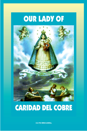 Lucky Mojo Curio Co.: O.L. of Cobre (N.S. Caridad del Cobre) Glass Encased Vigil Light Fixed and Prepared