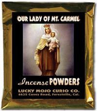 Lucky Mojo Curio Co.: O.L. of Mt. Carmel (N.S. Carmen) Incense Powders