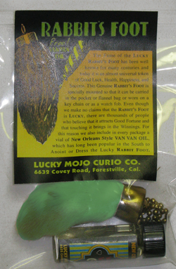 Assorted-Colours-Rabbits-Foot-Charm-with-Vial-Van-Van-Oil-at-Lucky-Mojo-Curio-Company