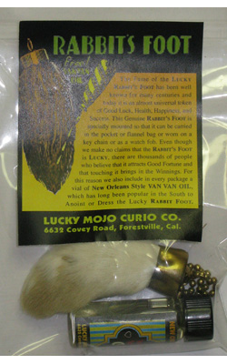 Link-to-Order-Natural-Coloured-Rabbits-Foot-Charm-with-Vial-Van-Van-Oil-at-Lucky-Mojo-Curio-Company