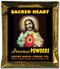 Lucky Mojo Curio Co.: Sacred Heart of Jesus Incense Powders
