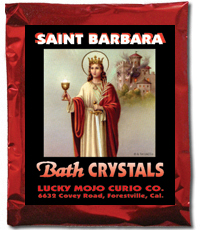 Lucky Mojo Curio Co.: Saint Barbara (Santa Barbara) Bath Crystals