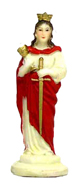 Saint-Barbara-Painted-Plastic-Statuette-at-Lucky-Mojo-Curio-Company