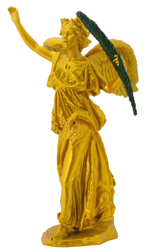 Winged Victory, St. Gaudens Replica, Gold Resin
