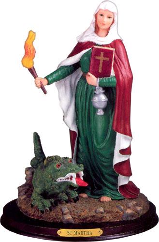 Saint-Martha-Dominator-With-Dragon-Statue-at-Lucky-Mojo-Curio-Company