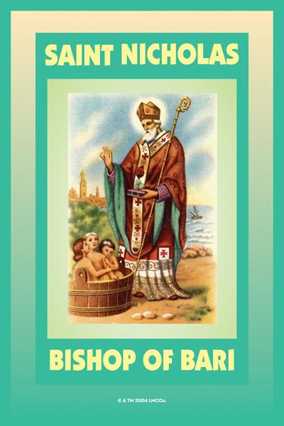Lucky Mojo Curio Co.: Saint Nicholas Glass Encased Vigil Light Fixed and Prepared