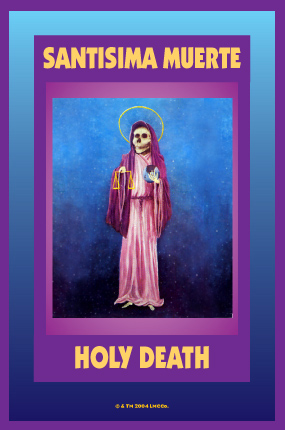 Lucky Mojo Curio Co.: Santisima Muerte (Holy Death) Glass Encased Vigil Light Fixed and Prepared