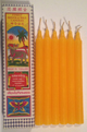 Six-Inch-Temple-Candles-Yellow-Thailand-Set-of-Six-In-Decorative-Box-at-Lucky-Mojo-Curio-Company