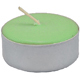 Tea-Light-Candle-Green-Unscented-Product-Detail-Button-at-the-Lucky-Mojo-Curio-Company-in-Forestville-California