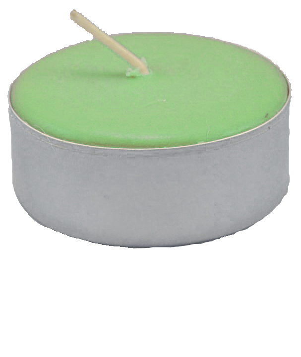 Tea Light Candle Green Unscented At The Lucky