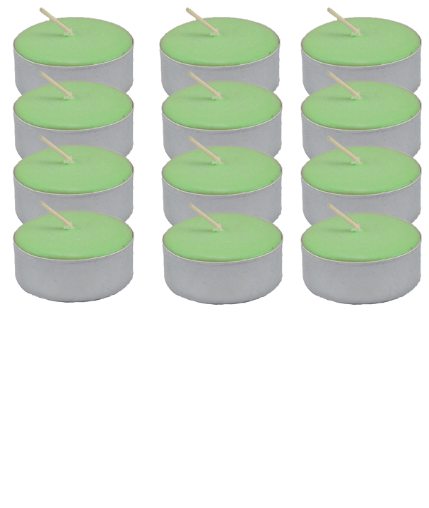 Tea Light Candle Dozen Green Unscented At The