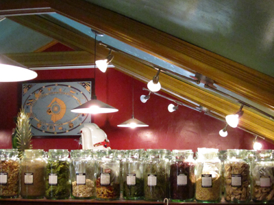 Track Lighting in the Lucky Mojo Shop