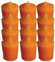 Votive-Light-Candle-Dozen-Orange-Product-Detail-Button-at-the-Lucky-Mojo-Curio-Company-in-Forestville-California