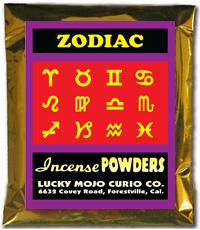 Lucky Mojo Curio Co.: Zodiac Incense Powders